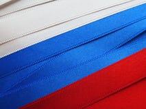 Ryssland flagga eller baner Royaltyfri Fotografi