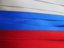 Ryssland flagga eller baner Arkivbilder