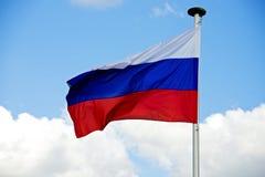 Ryssland flagga med den snabba banan Arkivfoto