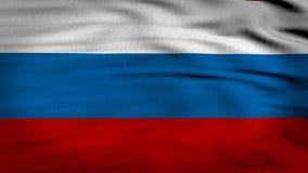 Ryssland flagga som vinkar 4k royaltyfri illustrationer