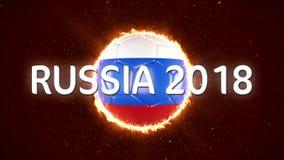 Ryssland fotboll 2018 Världssporthändelse animering för video 4K arkivfilmer