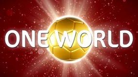 Ryssland fotboll 2018 Världssporthändelse animering för video 4K stock video