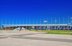 Ryssland - Juli 11 2017 olympiska Sochi parkerar Arkivbild