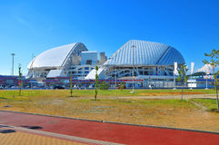 Ryssland - Juli 10 olympiska Sochi parkerar Invallning av Adler Royaltyfria Bilder
