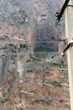 Ryssland Kabardino-Barkar republik Chegem paradrome var drömmar kommer riktigt, flyg över jorden!!! arkivbilder
