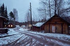 Ryssland Karelia Territorium av den reserv`-Kivach `en, November 17, 2017 Arkivbilder