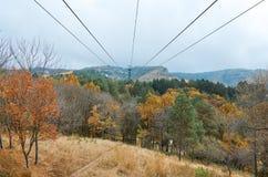 Ryssland Kislovodsk Bergbanan i Kislovodsken parkerar Royaltyfri Bild