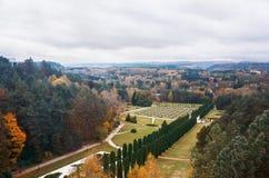 Ryssland Kislovodsk Dal av rosor i Kislovodsk Oktober 11, 2016 Royaltyfri Bild