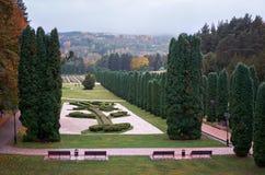 Ryssland Kislovodsk Dalen av rosor i Kislovodsken parkerar Arkivbild
