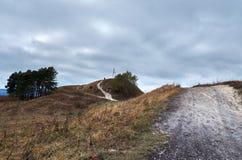 Ryssland Kislovodsk Natur överst av den lilla sadeln för berg Fotografering för Bildbyråer