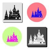 Ryssland Kreml Plan symbol royaltyfri illustrationer