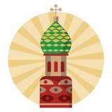 Ryssland kremlin byggnad vektor illustrationer