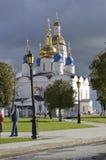 Ryssland kremlin tobolsk St-Sophia-antagande domkyrka Arkivbild