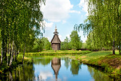 Ryssland kyrka i Kostroma arkivfoto