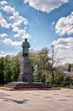 Ryssland Monument till Gogol i Moskva på den Gogol boulevarden 20 Juni 2016 Fotografering för Bildbyråer