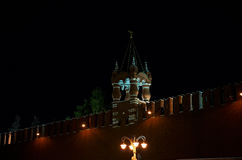 Ryssland moscow Kremlvägg och torn Juni 9, 2016 Royaltyfria Bilder
