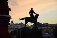Ryssland moscow Marskalk Zhukov Juni 9, 2016 Arkivbilder