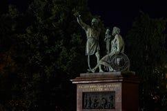 Ryssland moscow Skulptur av Minin och Pozharsky Juni 9, 2016 Royaltyfri Foto