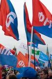 05/01/2015 Ryssland, Moskva Demonstration på röd fyrkant Arbets- da Royaltyfri Fotografi