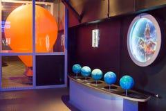 Ryssland Moskva, `-Experimentanium ` - museum av underhållande vetenskaper royaltyfri fotografi
