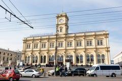 Ryssland Moskva, Leningradsky järnvägsstation Fotografering för Bildbyråer