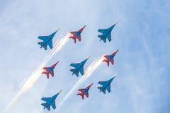 Ryssland Moskva - Maj 9, 2015 Victory Day Royaltyfri Fotografi
