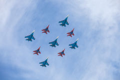 Ryssland Moskva - Maj 9, 2015 Victory Day Arkivfoton