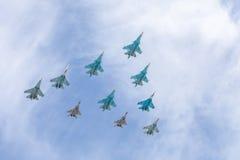 Ryssland Moskva - Maj 9, 2015 Victory Day Royaltyfri Foto