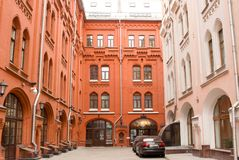 Ryssland Moskva, ryskt geografiskt samhälle arkivfoto