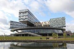 Ryssland. Moskva. Skolkovo innovation och affärsmitt Arkivbild