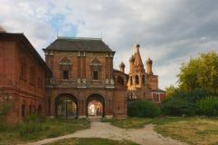 Ryssland Moskvaborggård Sommarafton på Arkivbilder