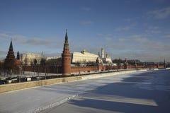 Ryssland MoskvaKreml i vinter Arkivbilder
