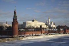 Ryssland MoskvaKreml i vinter Royaltyfri Foto