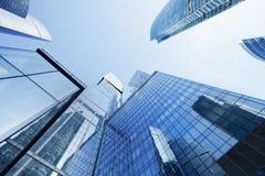 Ryssland Moskvaskyskrapor tema för illustration för arkitekturaffärsmitt berlin byggnadskontor Arkivfoto