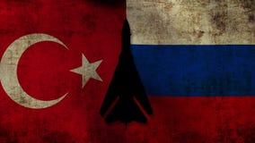 Ryssland mot kalkon arkivfilmer