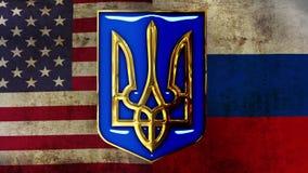 Ryssland mot USA arkivfilmer