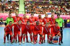 Ryssland nationellt futsal lag Royaltyfri Foto