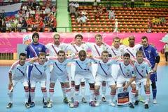 Ryssland nationellt futsal lag Arkivbilder
