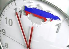 Ryssland nedräkning Arkivbild