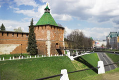 RYSSLAND NIZHNY NOVGOROD: Denna för fästning ce för en tid sedan Fotografering för Bildbyråer
