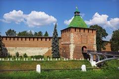 RYSSLAND NIZHNY NOVGOROD: Ingen rektangulära Nicholas Tower av Nizhny Arkivbilder