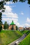 RYSSLAND NIZHNY NOVGOROD: Torn av den Nizhny Novgorod Kreml Arkivbild