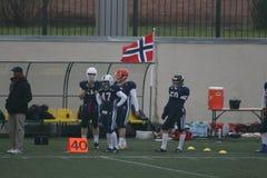 Ryssland - Norge lek, amerikansk fotboll Royaltyfri Fotografi