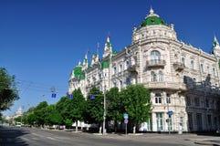 Ryssland Rostov-On-Don Byggnaden av stadsadministrationen Arkivfoton
