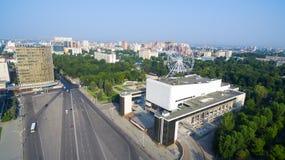 Ryssland Rostov-On-Don Teaterfyrkant Gorky teater Arkivfoto