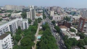 Ryssland Rostov-On-Don Tvärgator i centret stock video