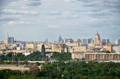 Ryssland Sikt av Moskva från Vorobyovy kullar i Moskva 20 Juni 2016 Arkivfoton