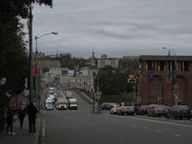 Ryssland smolensk Den stora sovjetiska gatan royaltyfri bild