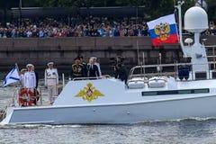 Ryssland St Petersburg, Juli 30, 2017 a-ceremonieln ståtar för th Arkivbild