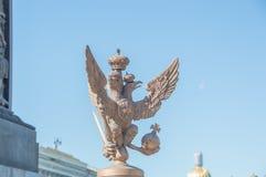 Ryssland St Petersburg, 12 Juni 2017 - den imperialistiska örnen på t Royaltyfria Foton